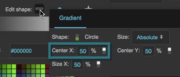 The Radial Gradient Center X property