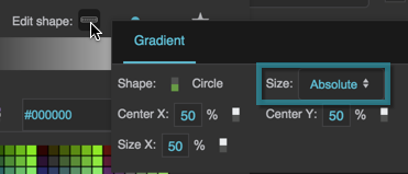 The Radial Gradient Size property